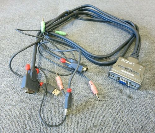 small resolution of lindy 32797 all in one 2 port kvm switch compact usb audio for pcs and macs